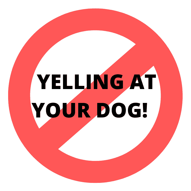no yelling at your dog sign
