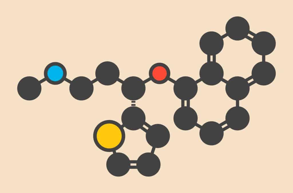 medication molecule diagram