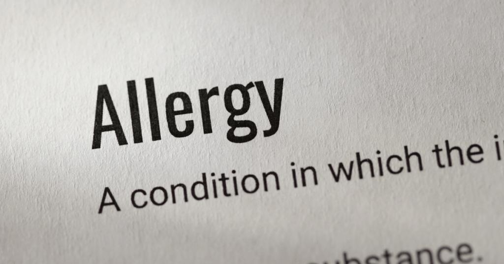 allergy text