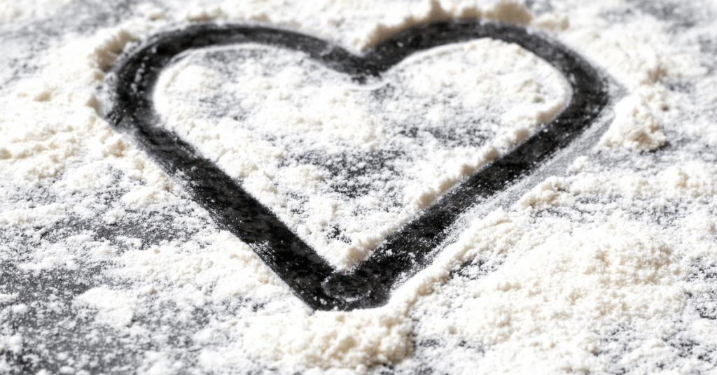 coconut flour heart