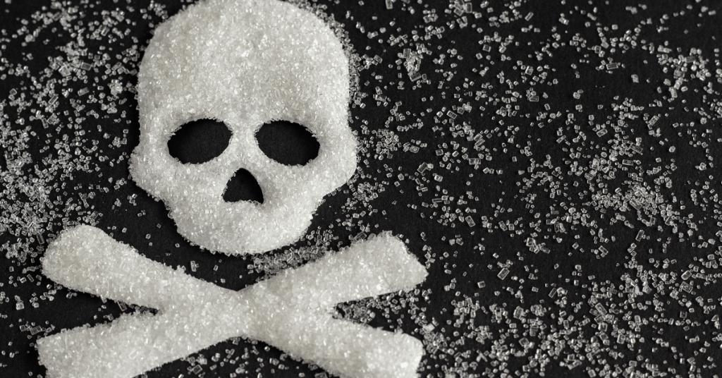 skull and crossbones made of sugar