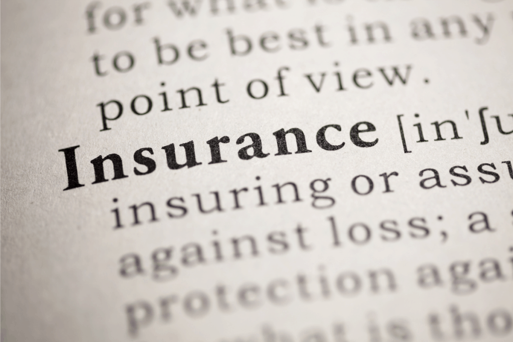 Insurance in dictionary picture